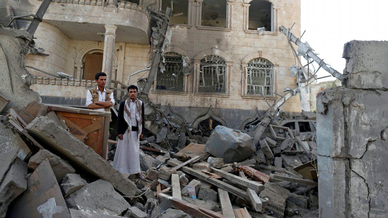 .Imagen de un reciente bombardeo en Yemen