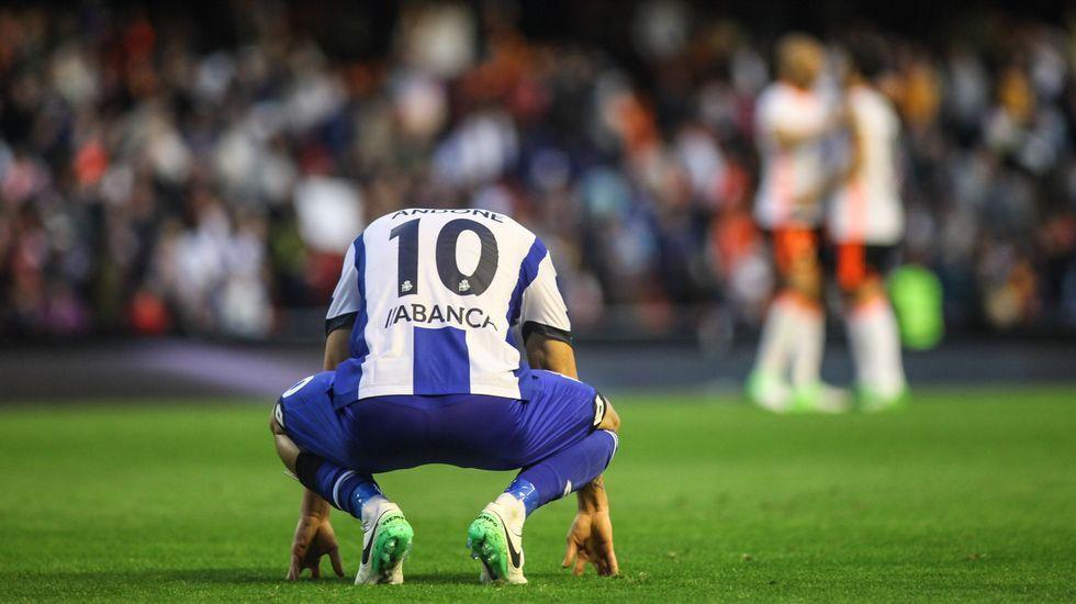 Las mejores imágenes del Valencia - Deportivo