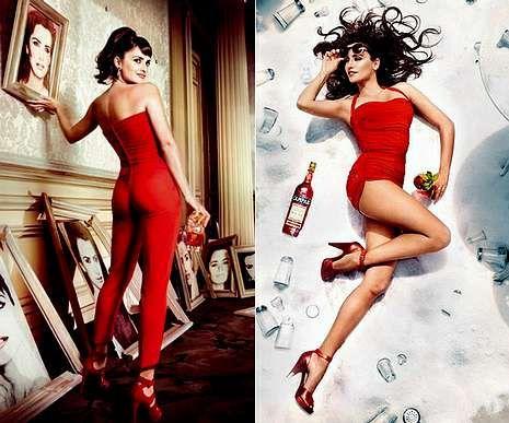 Miranda Kerr, la nueva imagen de Mango.Dos imágenes de la actriz española incluidas en el calendario Campari