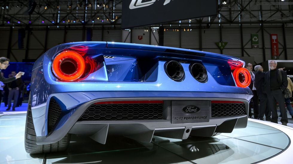 Vista trasera del nuevo Ford GT.