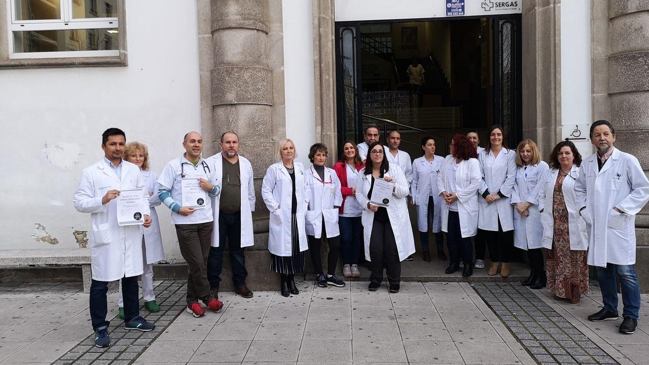 Los sanitarios de la comarca exigen una Atención Primaria más digna.Gómez-Reino derrotó a Carolina Bescansa en las primarias gallegas de Podemos