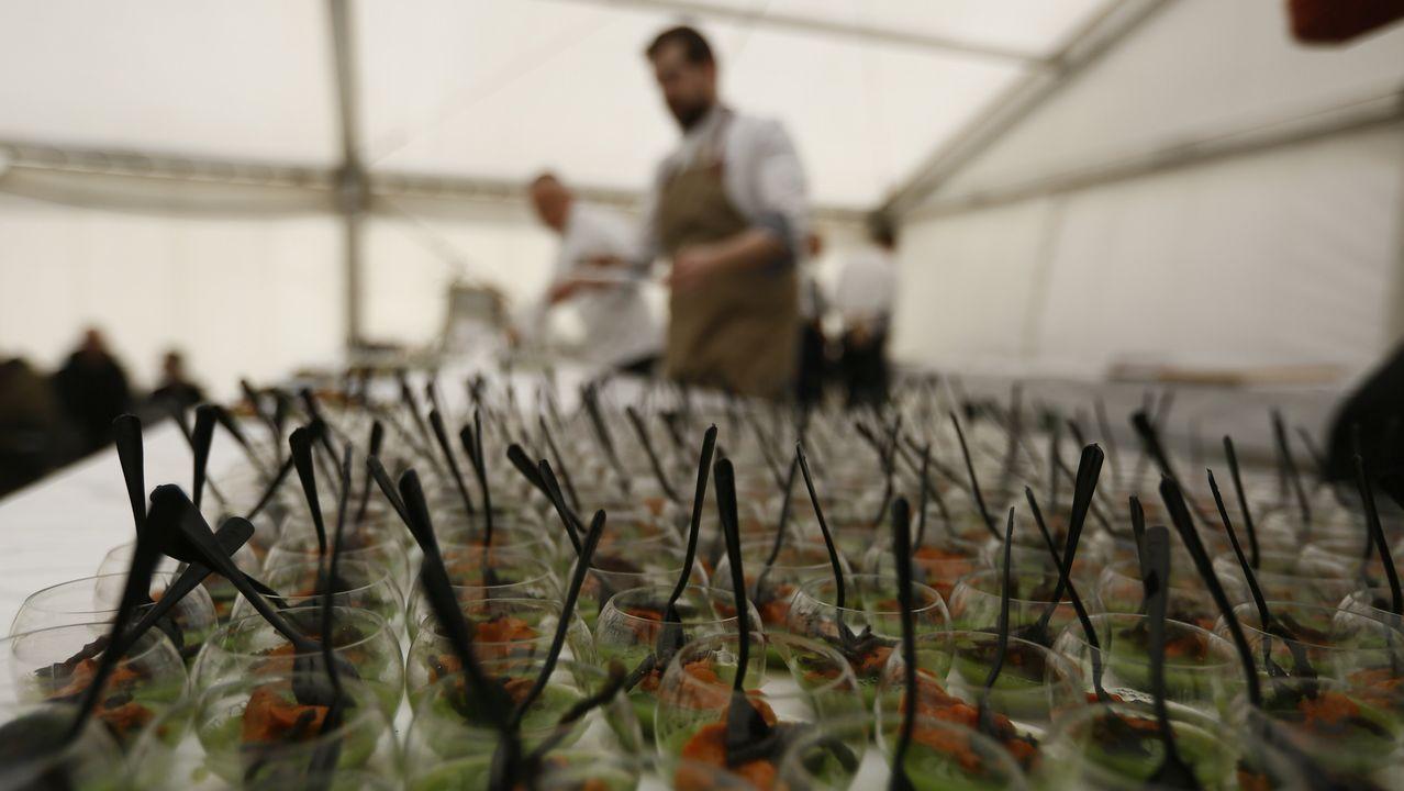 Fiesta del erizo en San Cibrao