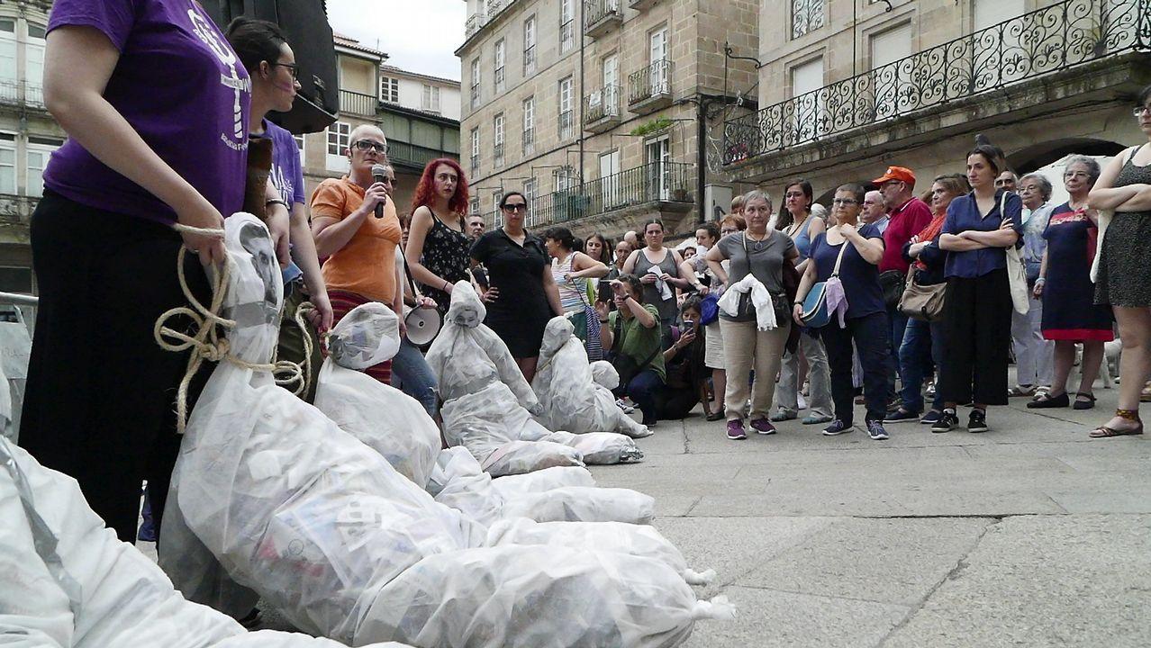 .Concentración en Ourense contra la libertad condicional de La Manada