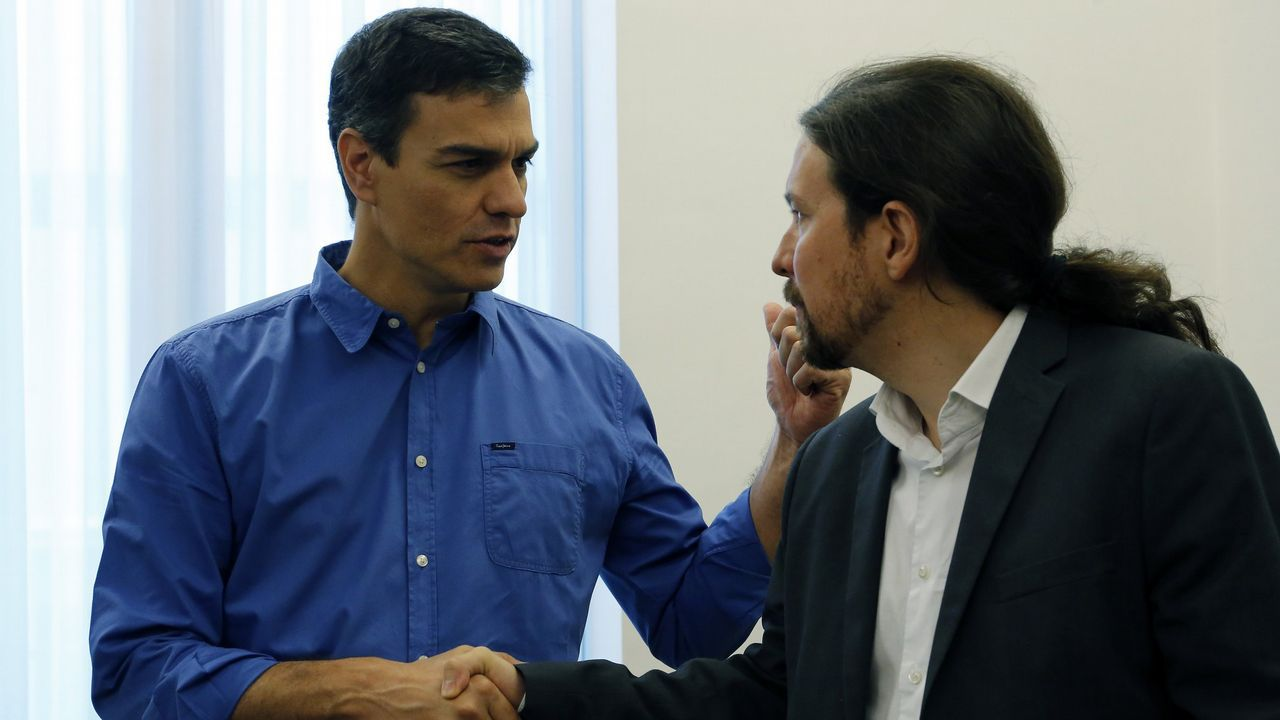 .Pedro Sánchez y Pablo Iglesias, en una imagen de archivo