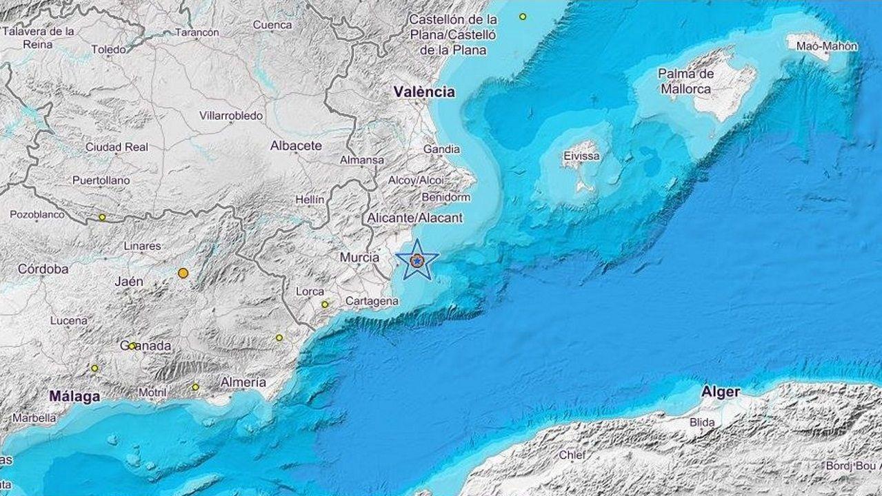 El seísmo se produjo en alta mar frente a la costa de Torrevieja