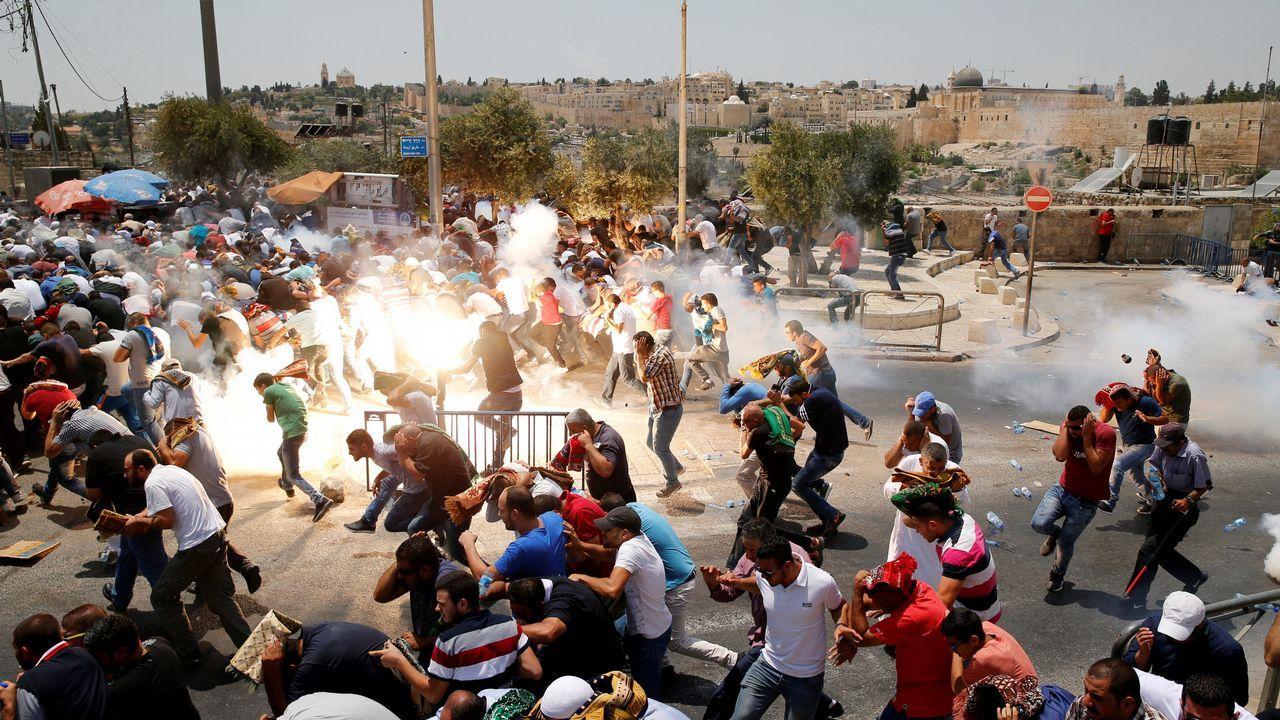 Disturbios en el exterior de la Ciudad Vieja Jerusalén
