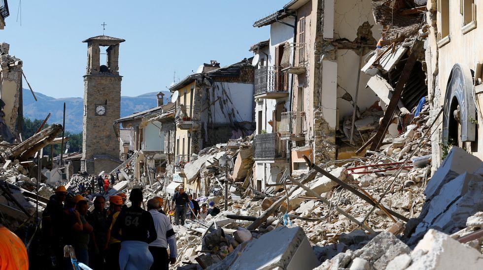 Los destrozos causados por el terremoto de Italia, en imágenes