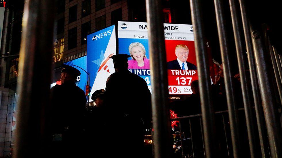 Noche electoral en Nueva York.