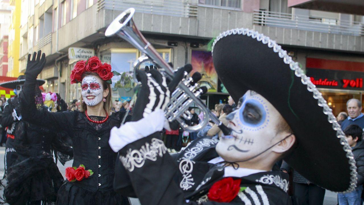 Las imágenes del desfile de carnaval de O Grove