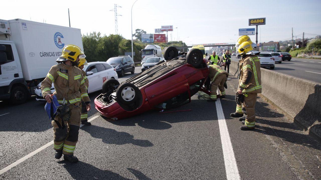 Accidente Alfonso Molina.Atasco en Alfonso Molina