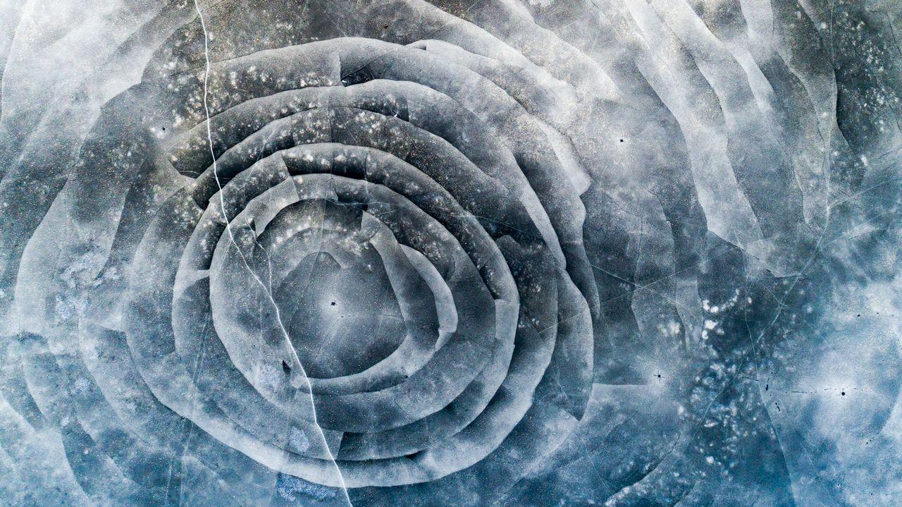 Formas que adquiere el hielo en Ackers, Suecia