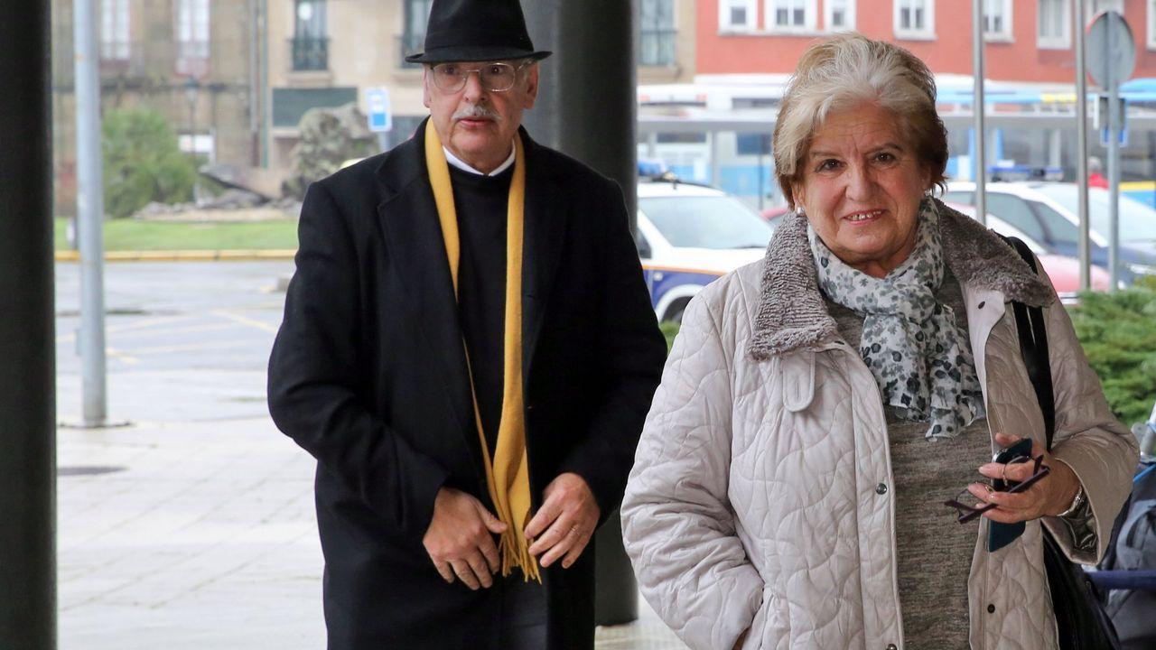 Oubiña y Avendaño se ven las caras en los juzgados.Juicio a Sito Miñanco en la Audiencia Provincial de Pontevedra