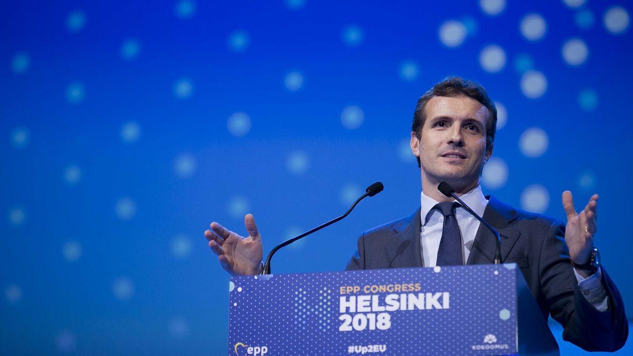 Casado pidió en Helsinki a Sánchez que convoque «inmediatamente» elecciones generales si no aprueba los Presupuestos