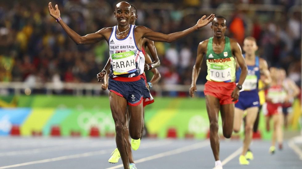 El británico Mohammed Farah se alzó con el oro en 5.000 y 10.000 metros