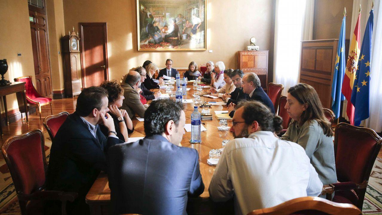 .Junta de portavoces en el parlamento asturiano