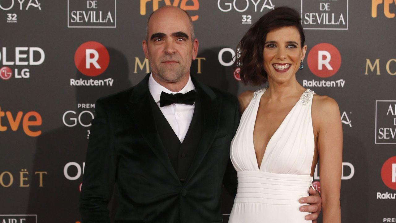 .El actor gallego Luis Tosar junto a su pareja María Luisa Mayol.