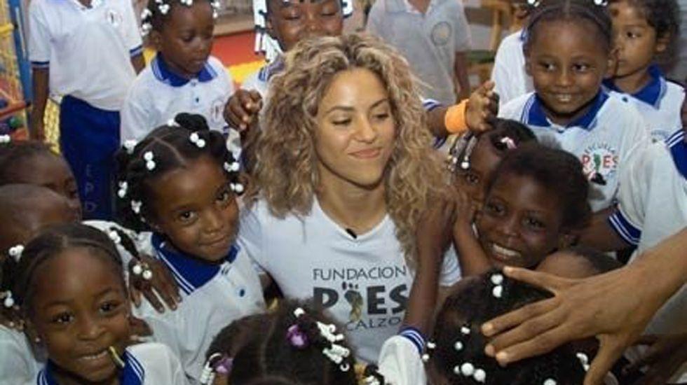 .La cantante Shakira, a por las causas patriotas.