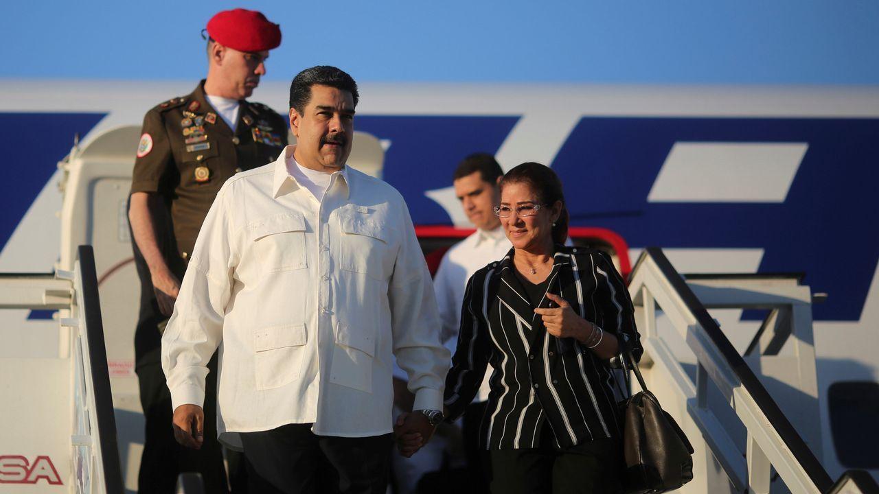.Nicolás Maduro y su mujer, Cilia Flores, tía carnal de los condenados