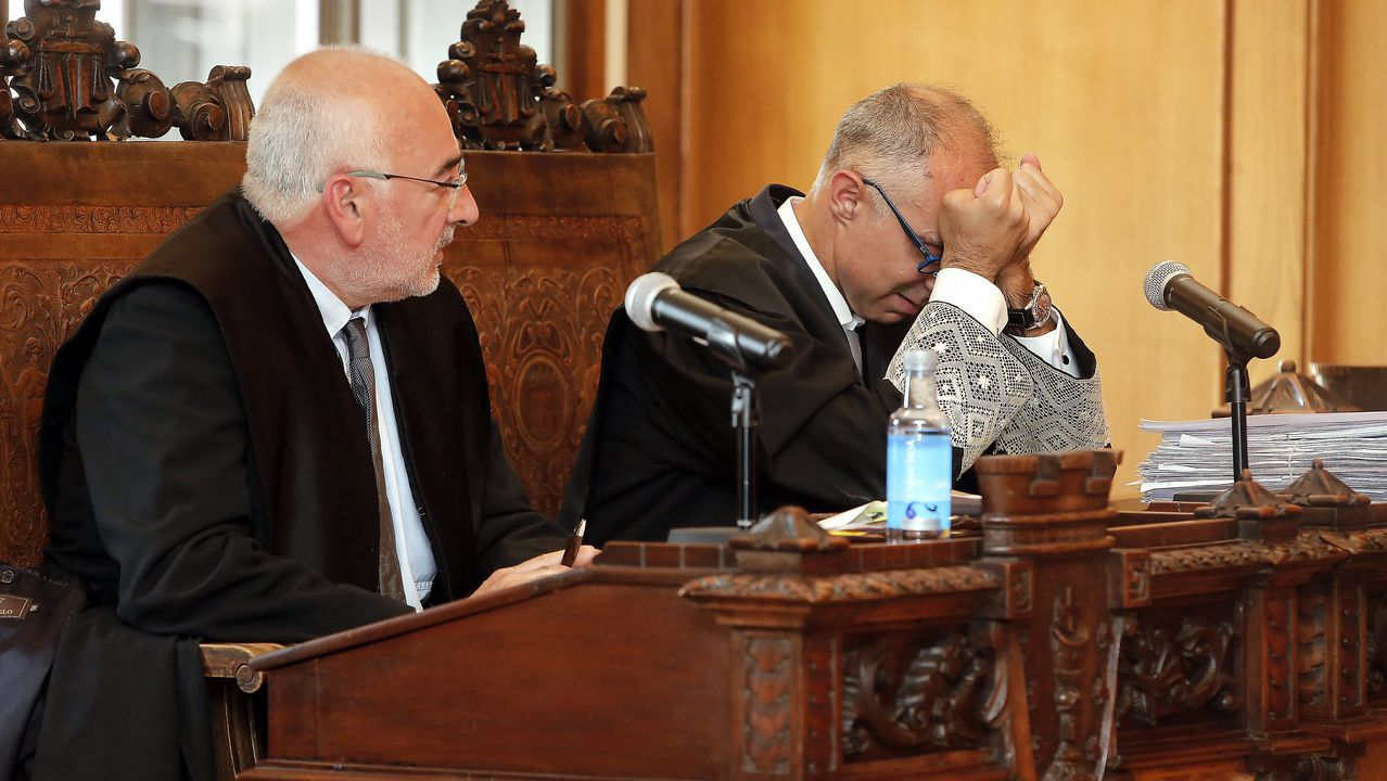 .El fiscal no ha podido contener las lágrimas durante su intervención en el juicio cuando se leía la sentencia.