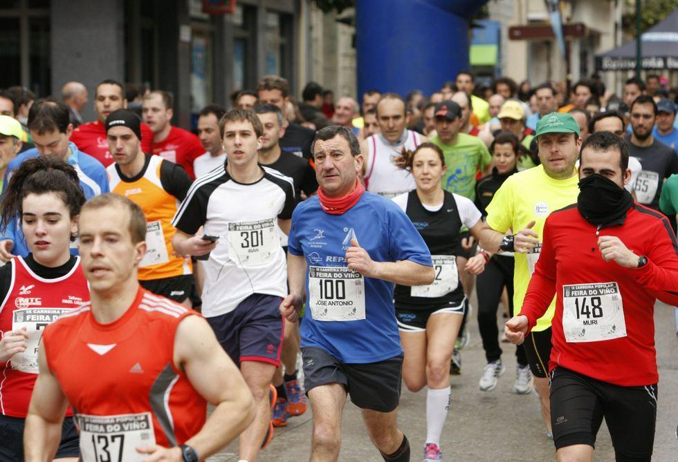 Numerosos corredores participan cada año en la carrera de la feria del vino de Quiroga.