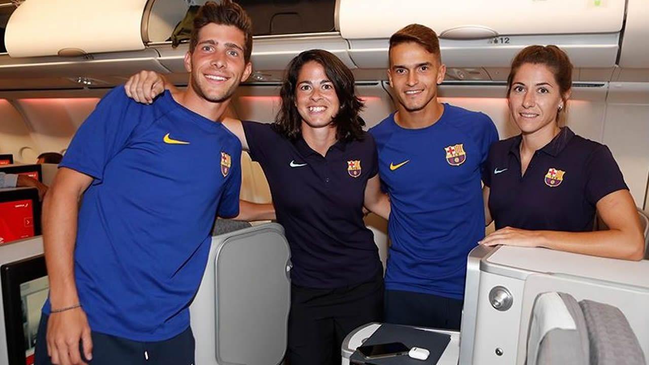 Polémica por el viaje del equipo femenino del Barça en turistas mientras los de Valverde iban en primera.