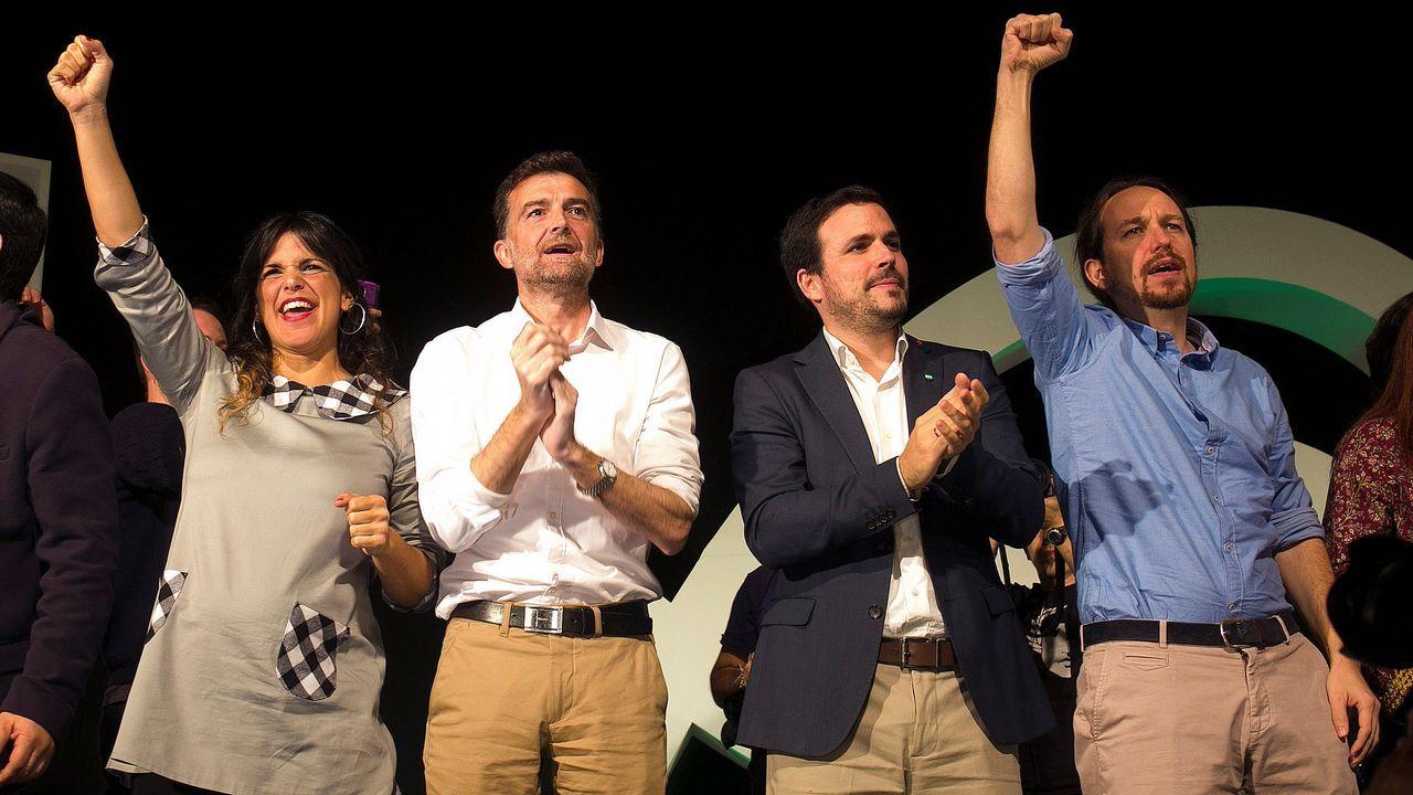 La candidata de Adelanta Andalucía fue apoyada por Maíllo, Garzón y Pablo Iglesias