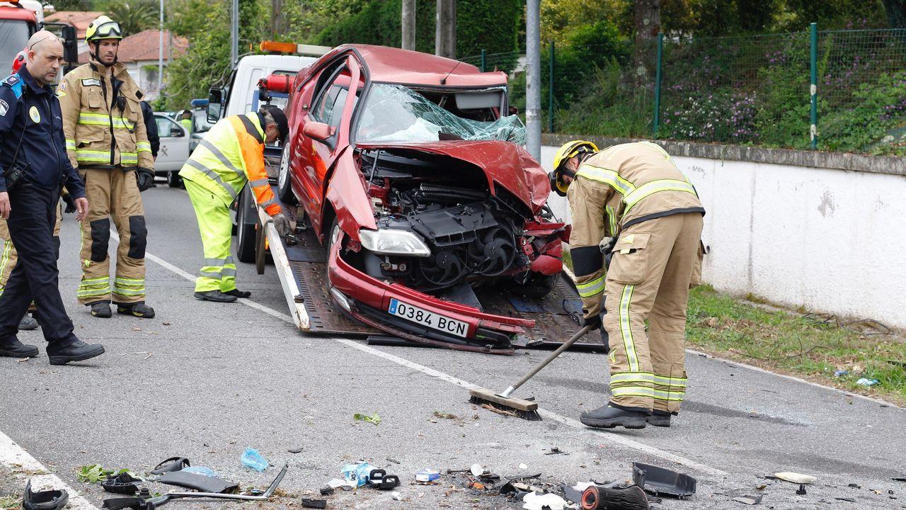 Fallece el conductor de un turismo en una salida de vía en Marín