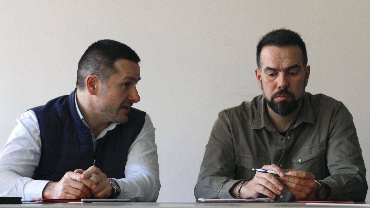 Movilizaciones para reclamar salarios dignos Oviedo CCOO.Los secretarios generales de la UGT y de CCOO de Asturias, Javier Fernández Lanero y José Manuel Zapico