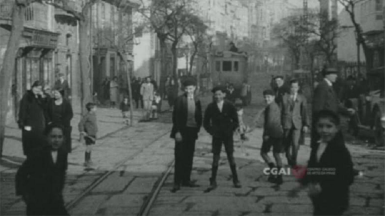 El CGAI restaura imágenes inéditas de A Coruña.