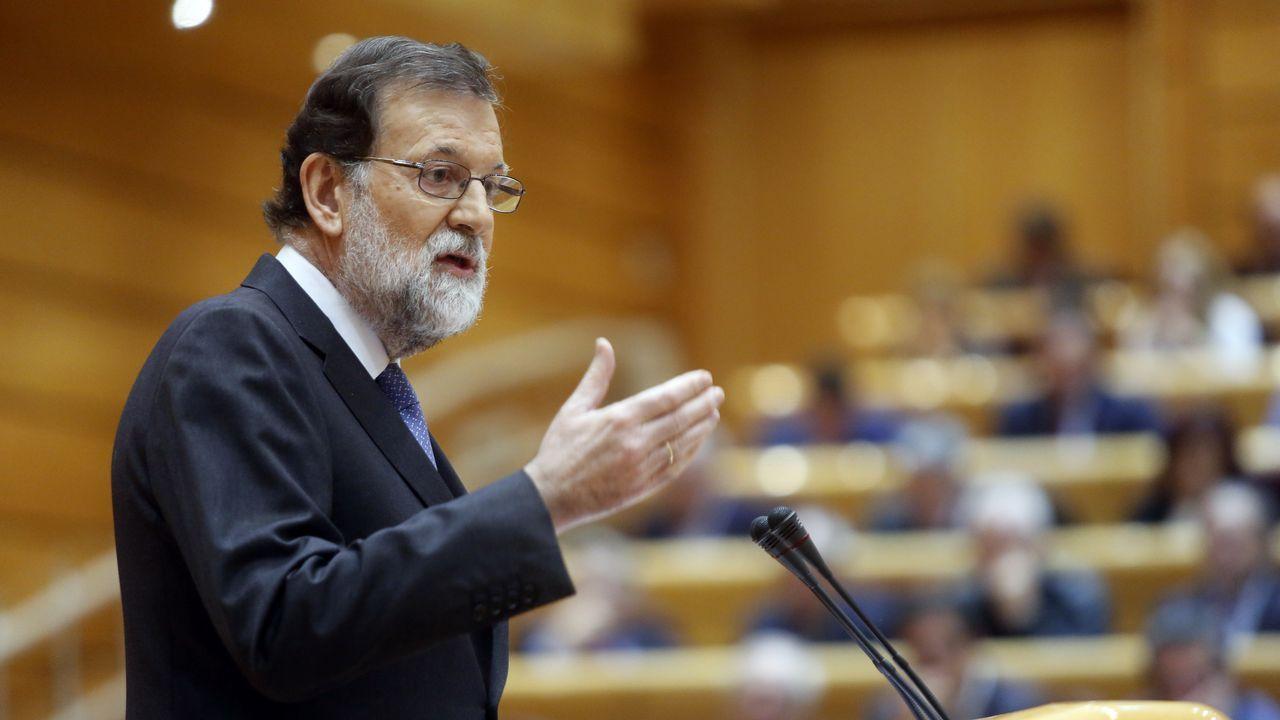 Rajoy convocará elecciones en Cataluña «lo más pronto posible».El senador del PSOE Ander Gil
