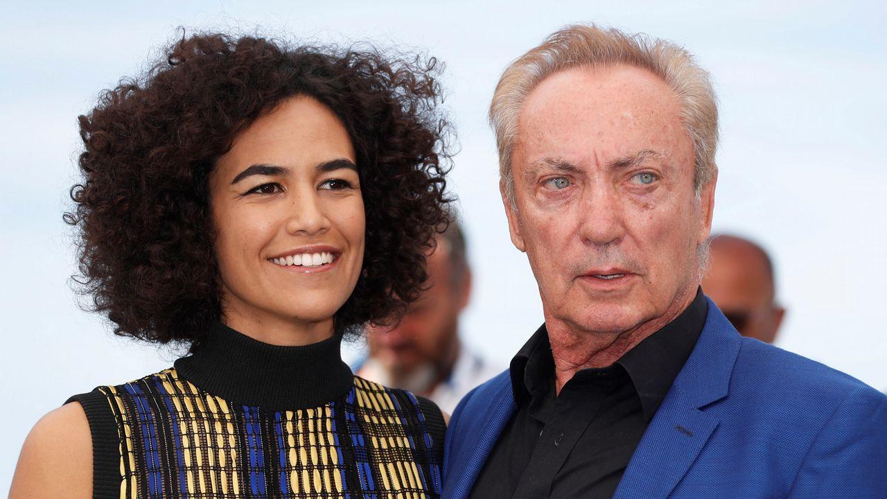Cannes, en imágenes.Bárbara Colen y Udo Kier, protagonistas de «Bacurau»