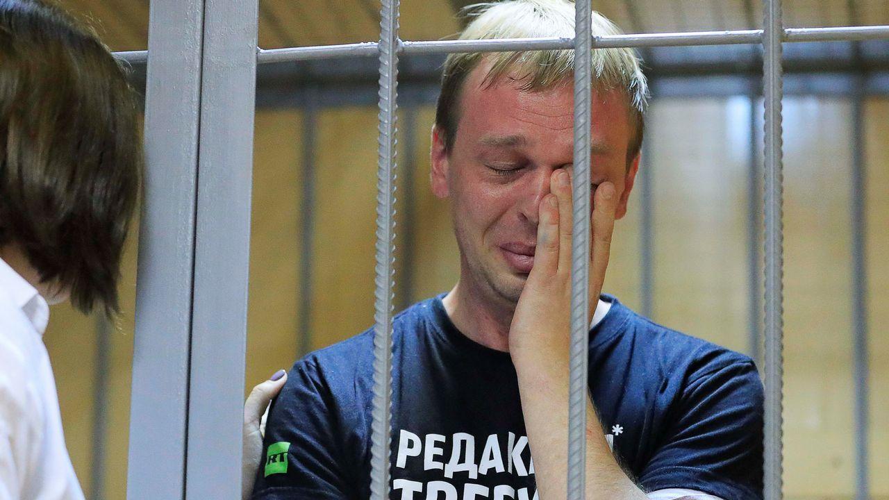 Ivan Golunov, durante la audiencia ante el tribunal este sábado