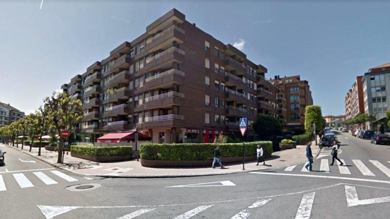Calles de Tito Bustillo y Naranjo de Bulnes, en Ciudad Naranco