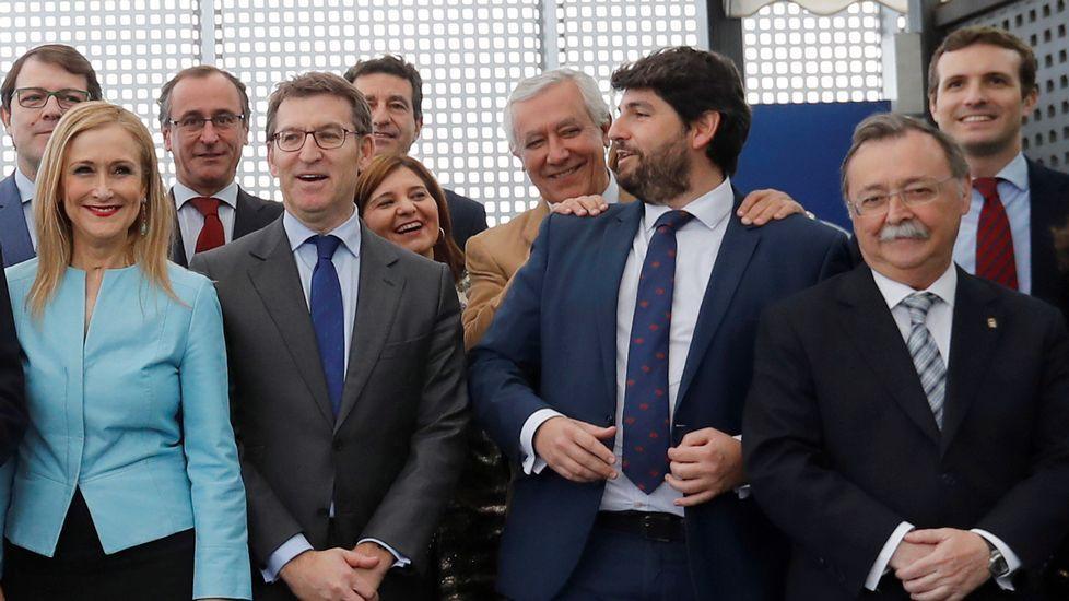 Feijoo: «Que no se castigue a los que cumplimos» incluso teniendo menos recursos».Encuentro de los presidentes de Asturias, Galicia, Aragón y Castilla y León