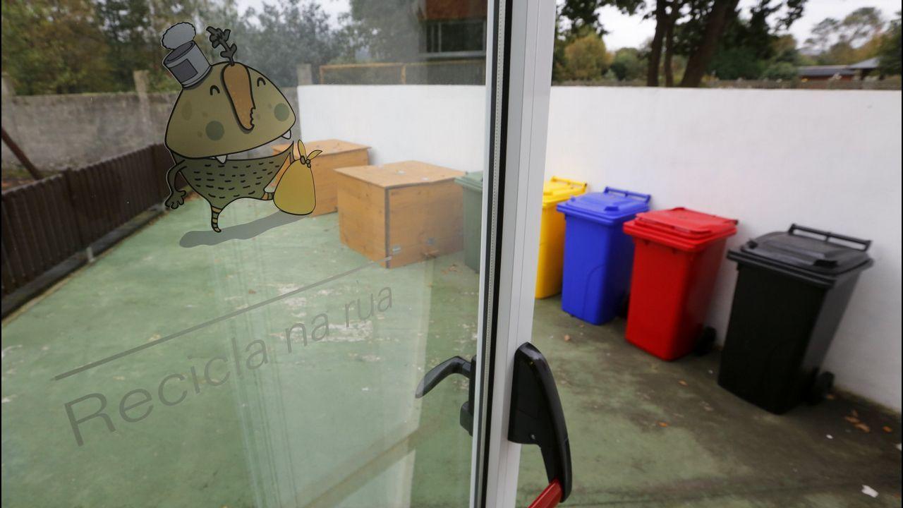 Ferrol corre y camina contra la violencia de género.ESCAPARATE DE CUERDA FLOJA DURANTE LA CAMPAÑA FERROL EN NEGRO