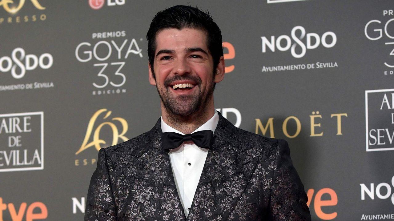 Los peor vestidos de los Goya 2019.La actriz asturiana Blanca Romero, en Gijón