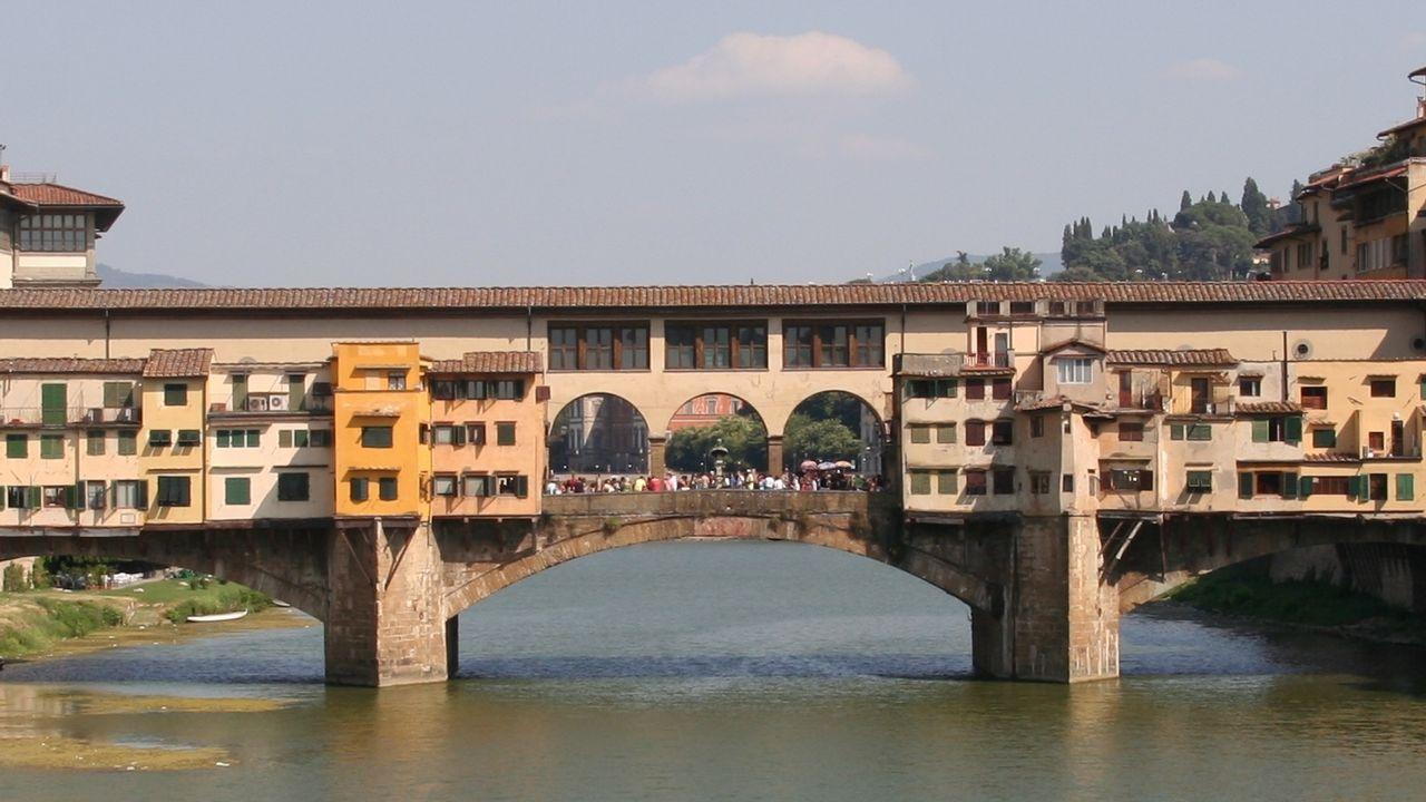 El famoso Ponte Vecchio, en Florencia