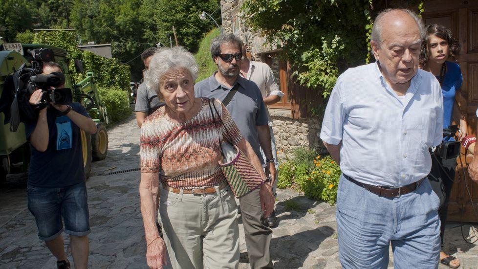 Pujol y su mujer, acudiendo a votar el pasado 20D