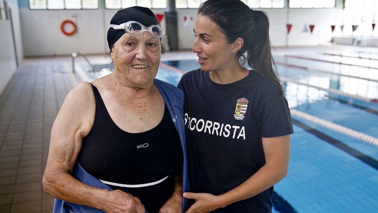 Así es Celia Iglesias, la gallega más veterana que compite en natación