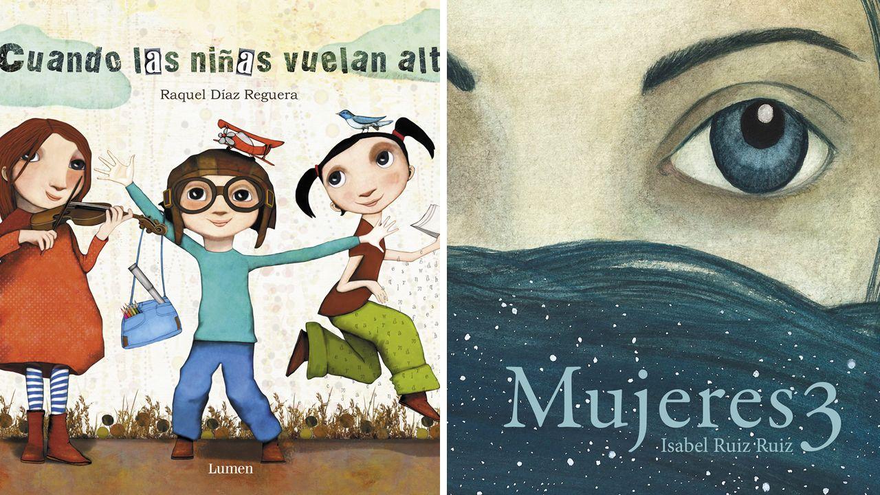 «Cuando las niñas vuelan alto», de Raquel Díaz y «Mujeres 3» de Isabel Ruiz