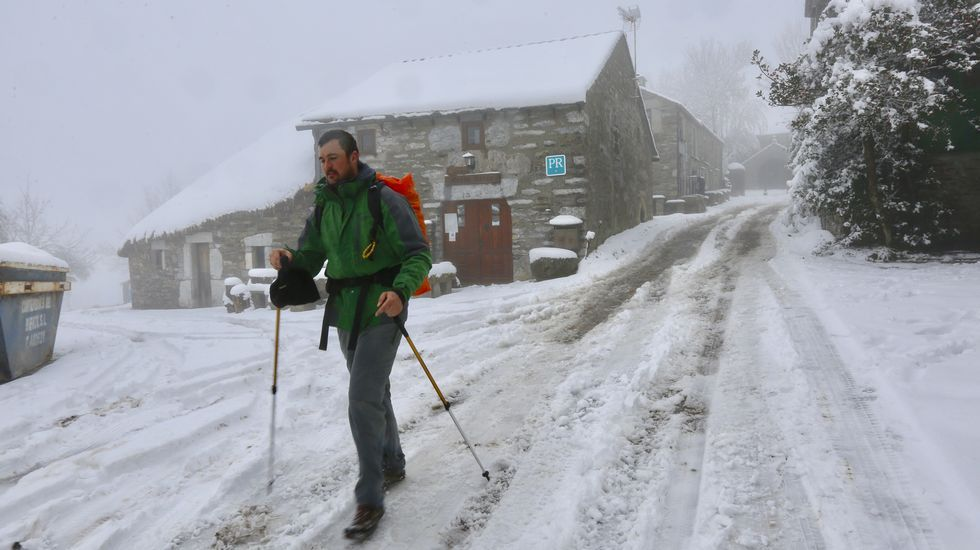 La nieve vuelve a O Cebreiro.Los Reyes Magos en Sarria