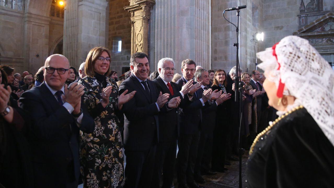 Coral de Ruada pechou o acto de entrega dos premios Cultura Galega interpretando o himno