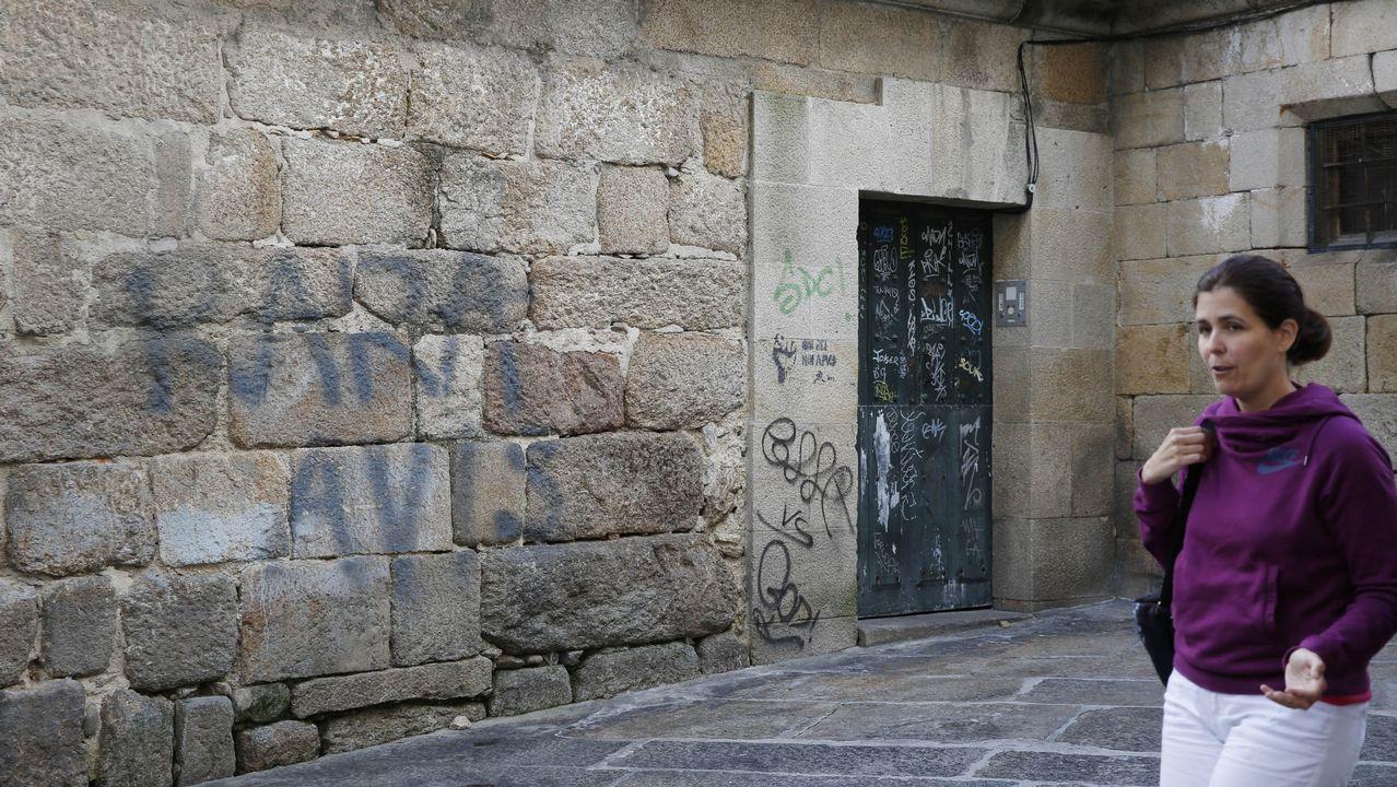 Pintadas en las ciudades gallegas.