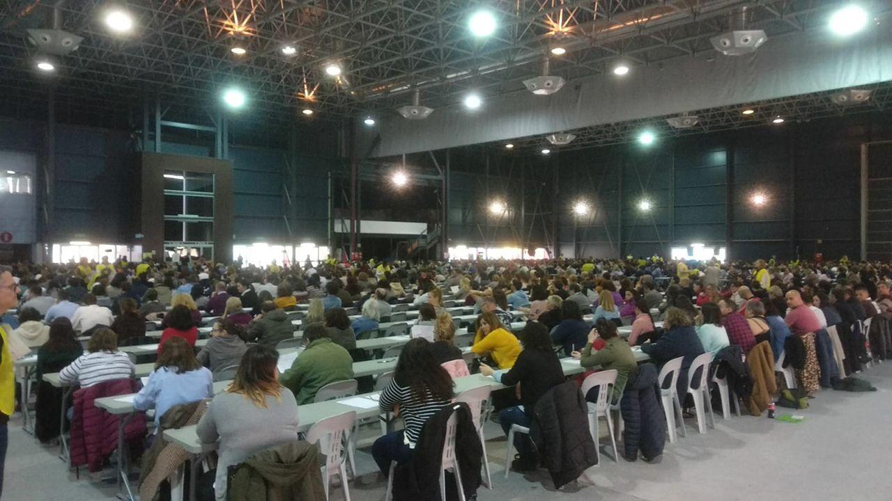La oposición a auxiliar del Sespa, en imágenes.Oposición a celador en Gijón