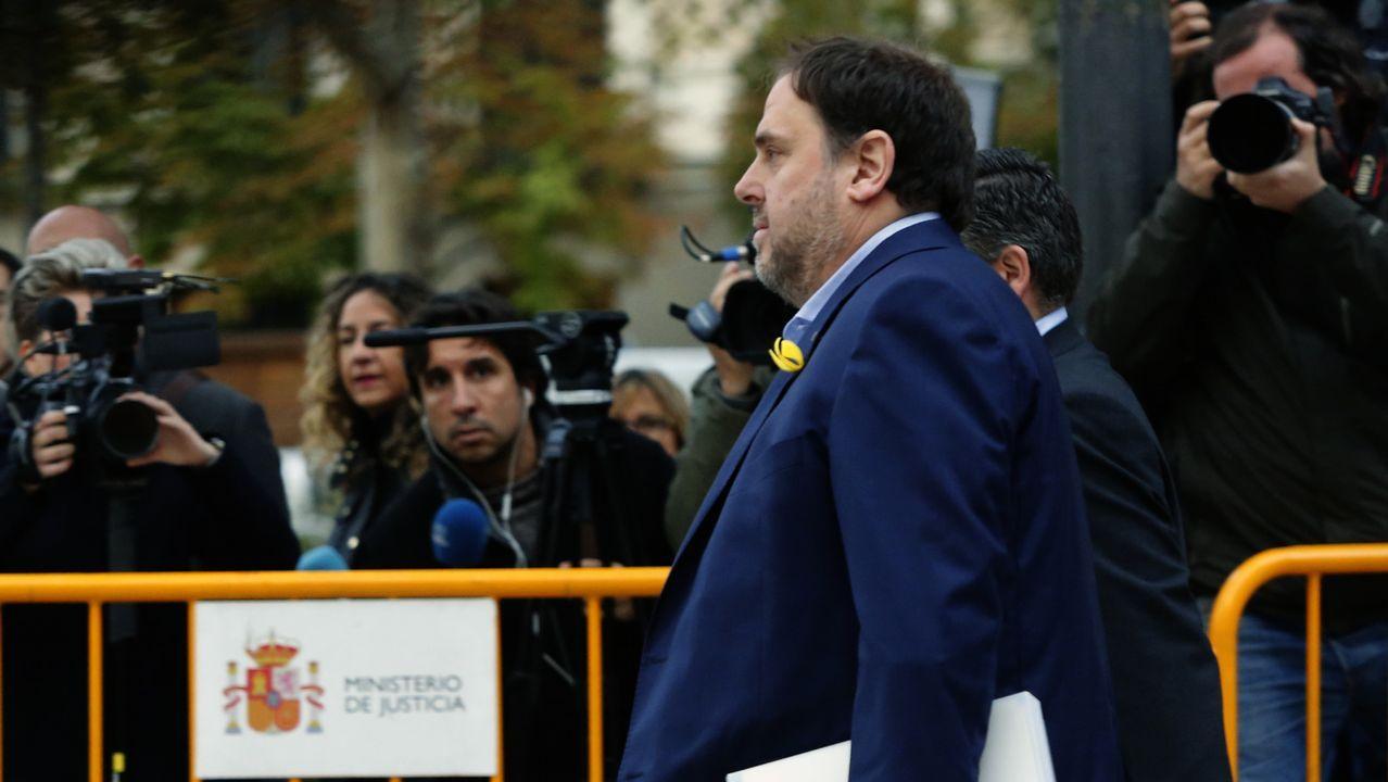 Oriol Junqueras, en el día en el que fue a declarar a la Audiencia Nacional