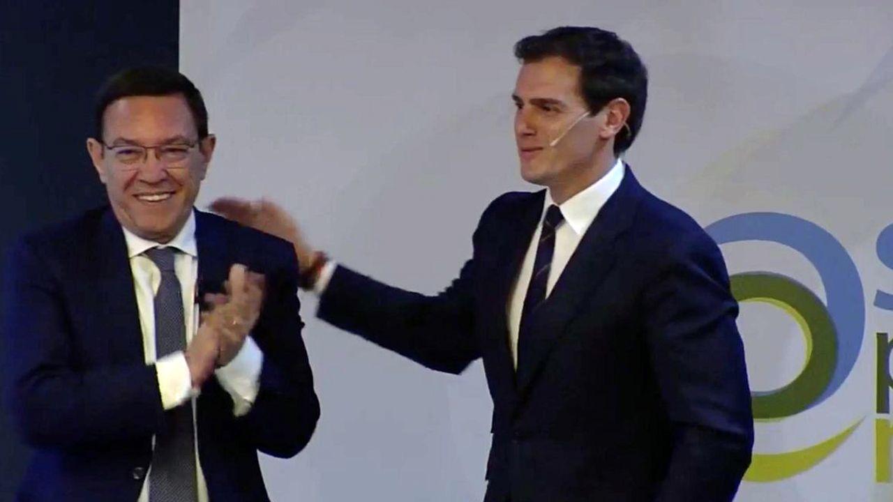 Ciudadanos oviedo.Albert Rivera y Juan Vázquez
