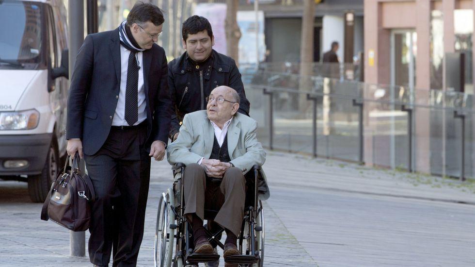 .Felix Millet, a su llegada hoy al juicio