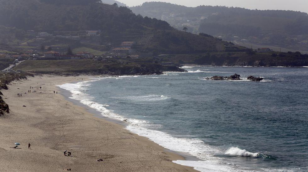 Barrañán. En los arenales de Arteixo, como este de Barrañán, hay a veces grandes olas