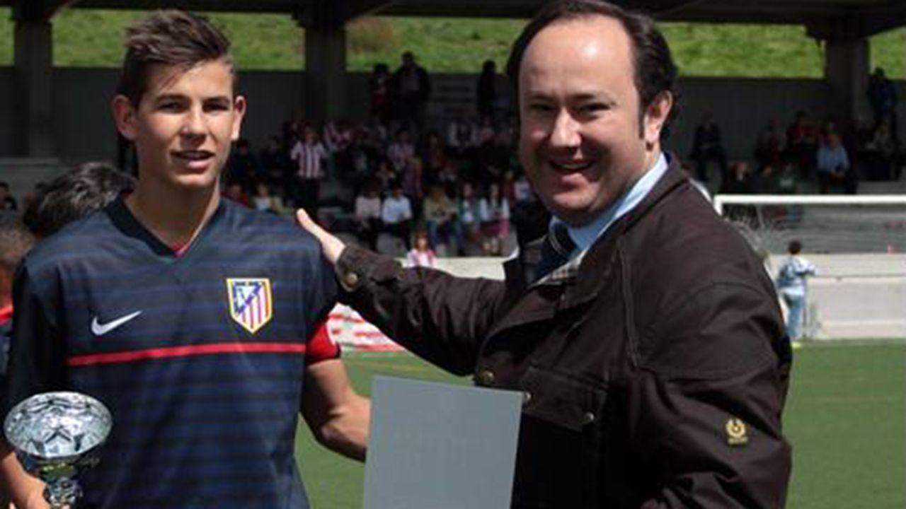El jugador del atlético de Madrid en la Oviedo Cup