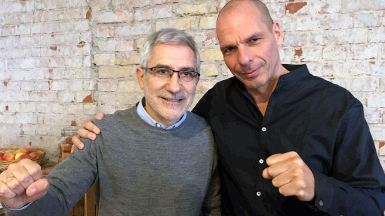 Gaspar Llamzares y Yanis Varoufakis